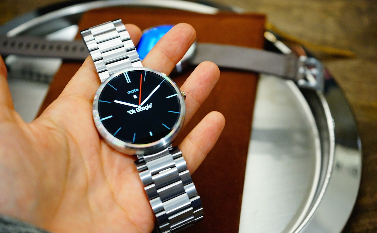 Moto 360 replacement steel band