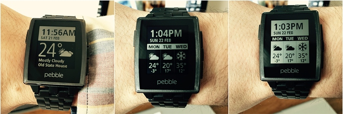 Pebble Weather watch face app