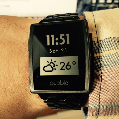 Pebble best simple weather face