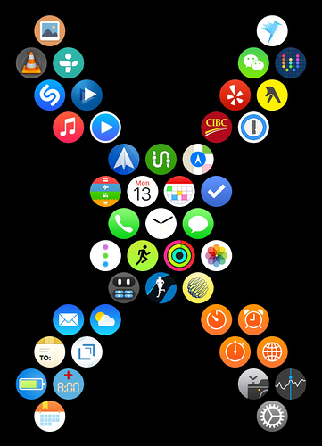 Apple Watch app layout