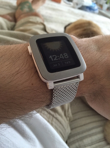 Pebble Time Milanese Band