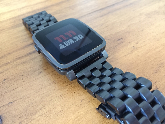 Black Pebble Time Steel Aftermarket Band