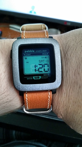 Pebble Time Skin and Leather Band