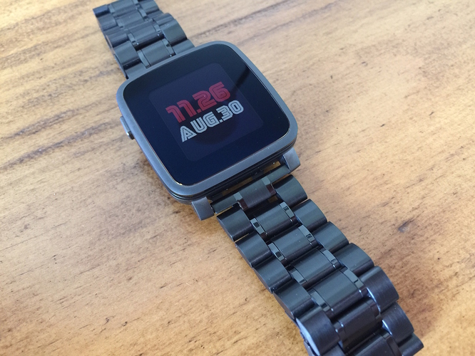 Ritche Black Pebble Time Steel