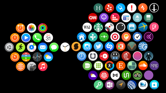 App layout for Apple Watch