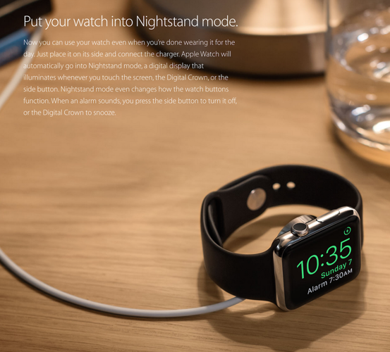 Apple Watch nighstand mode