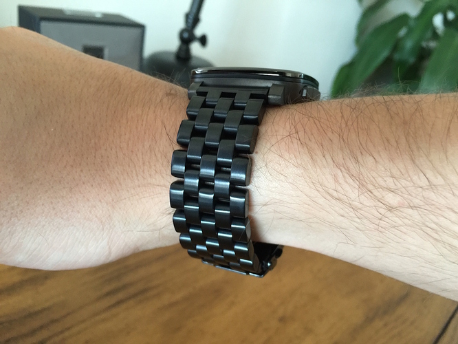 Pebble Time Black steel band