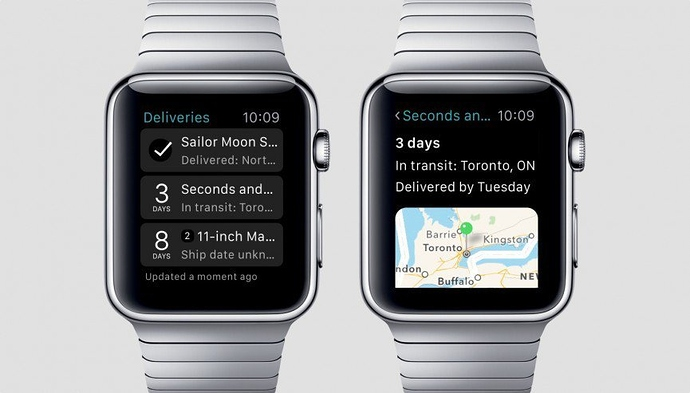 Delivery Tracker Apple watch