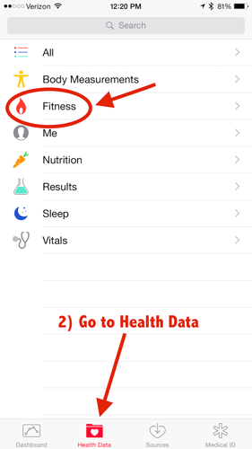 Apple Watch Health Fitness Data