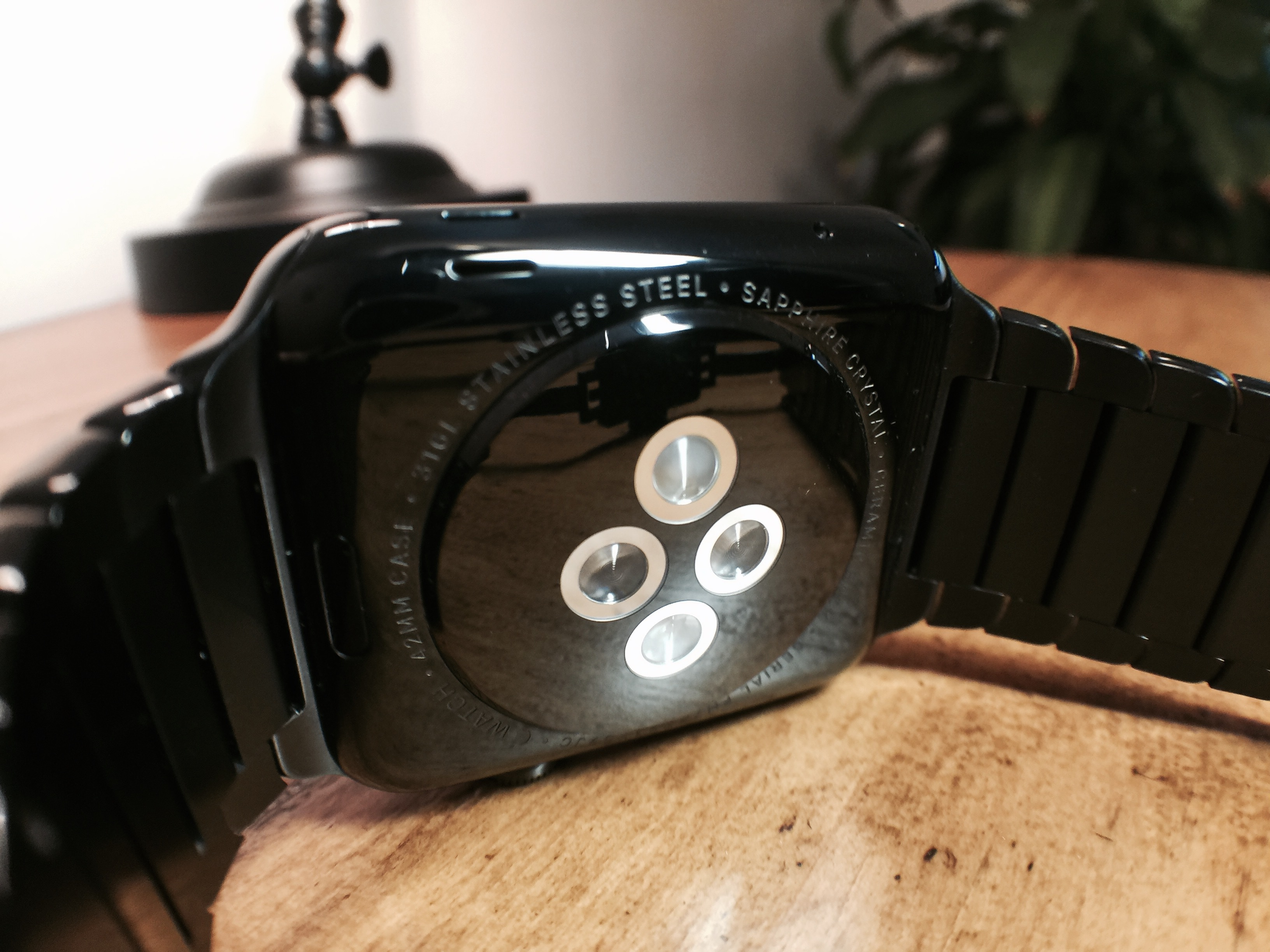 Space Black Apple Watch back
