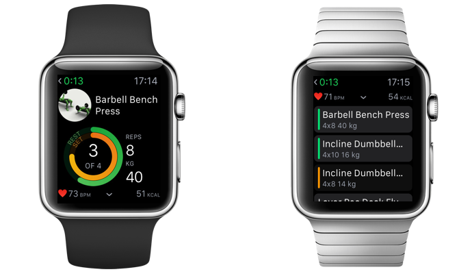 Apple Watch gym app