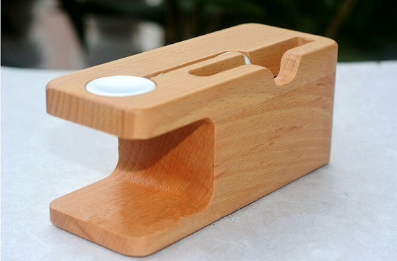 Apple Watch handmade wooden dock