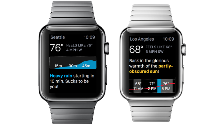 Apple Watch Weather App