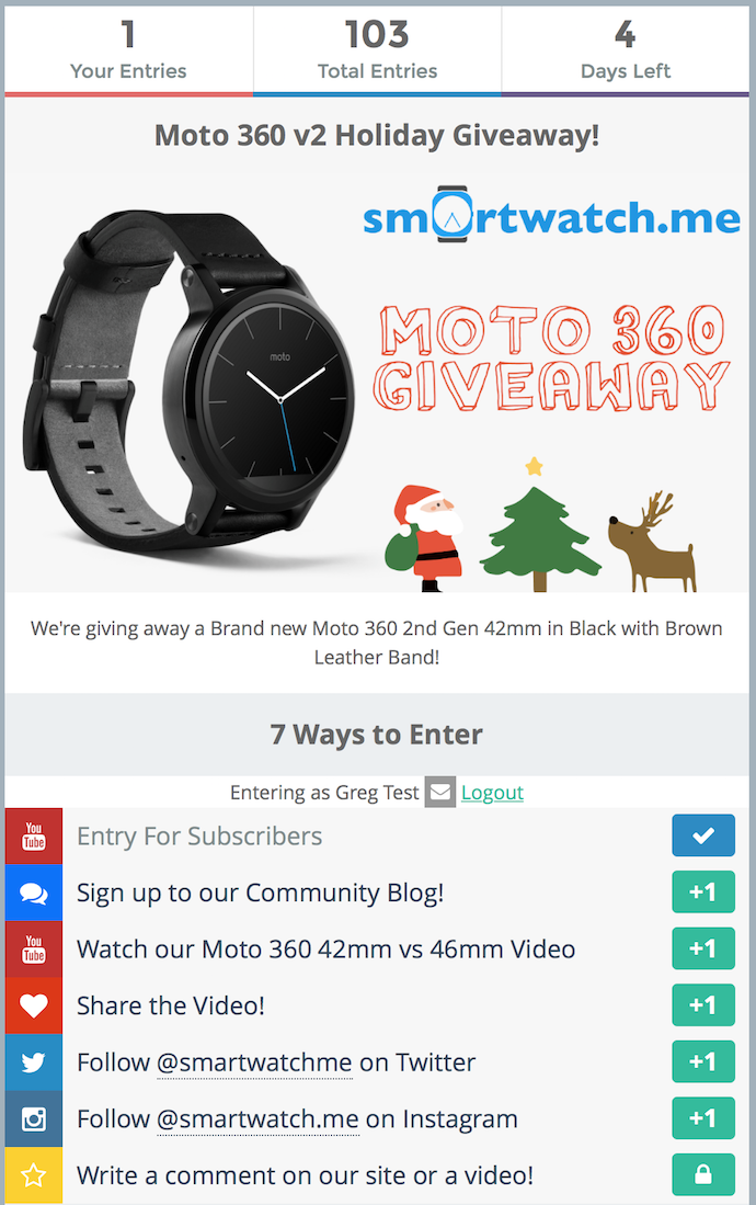 We're Giving Away A Moto 360 2nd Gen For The Holidays ...