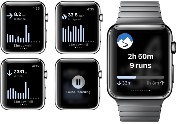 Apple Watch Ski snowboard app