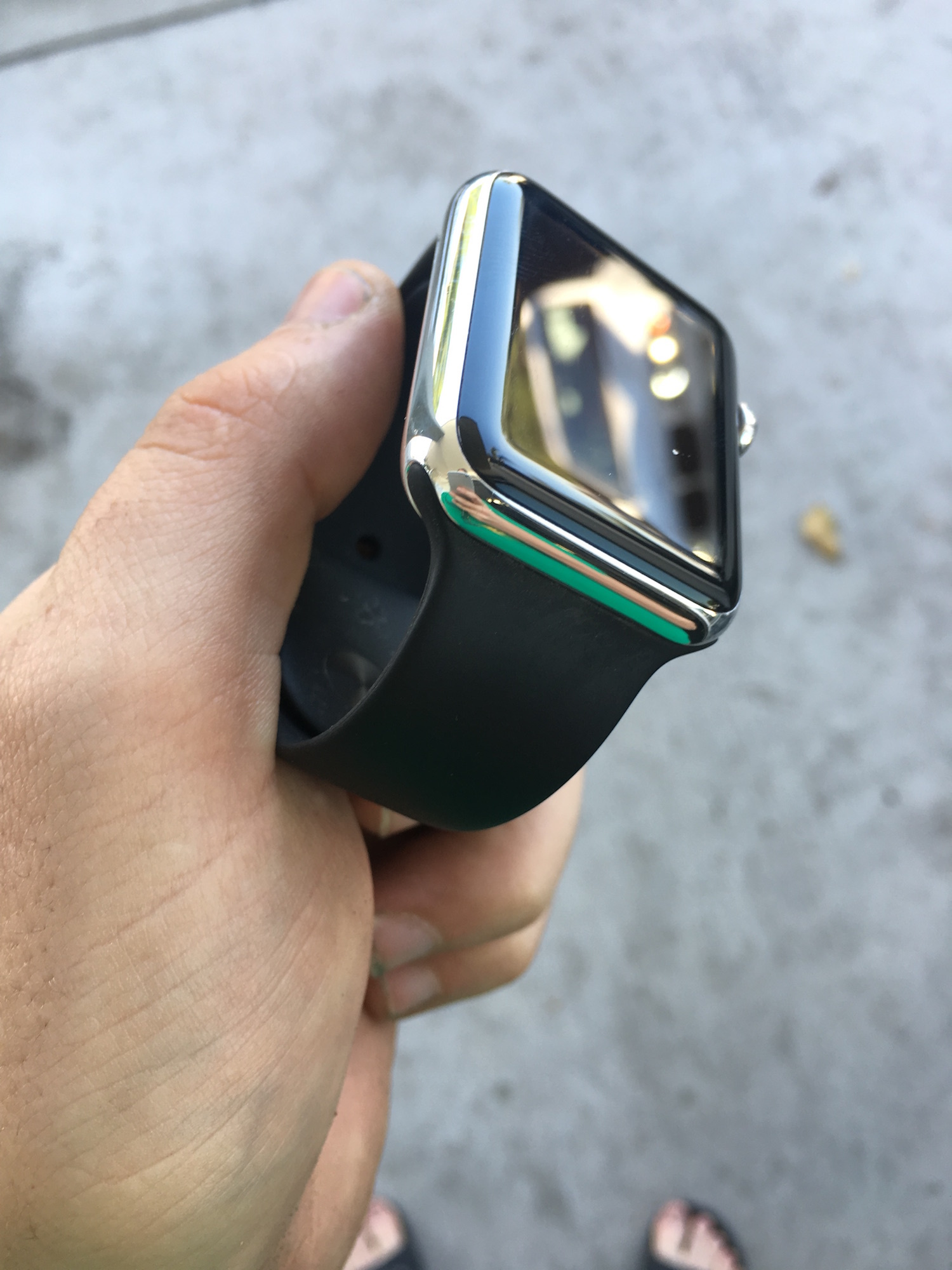 Apple Watch Sport Steel Polished
