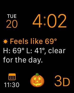 option 2 create emoji halloween complications