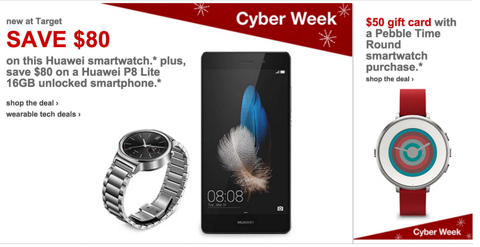Cyber Monday Smartwatch Android Wear Deals