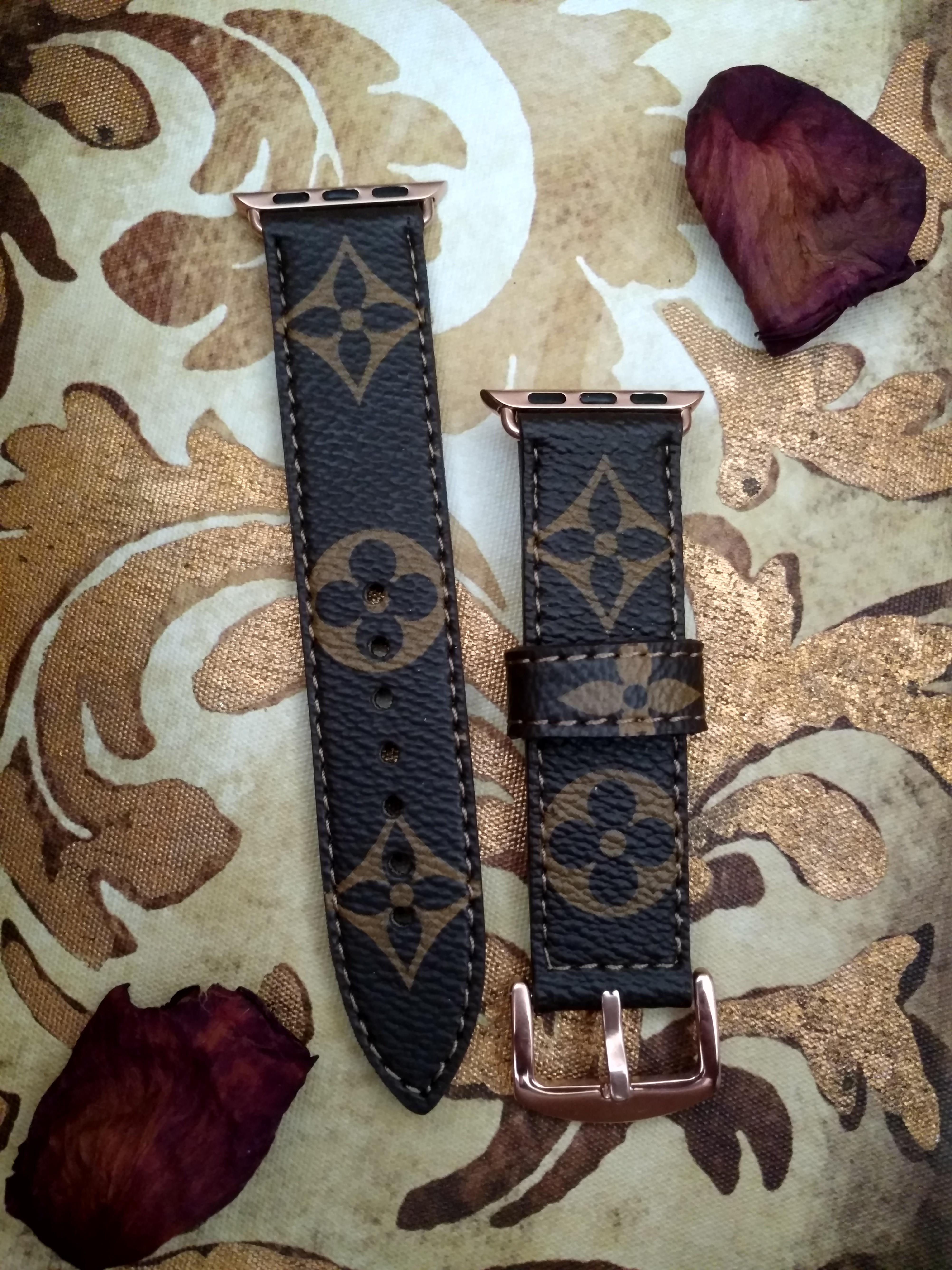 Custom Made Louis Vuitton Apple Watch Bands Bands